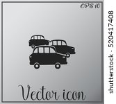 old car icon  vector | Shutterstock .eps vector #520417408