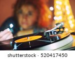 image of christmas. turntable... | Shutterstock . vector #520417450