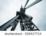 oil drilling rig. toned image | Shutterstock . vector #520417714