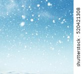 winter christmas sky with... | Shutterstock . vector #520421308