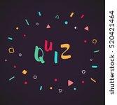 quiz | Shutterstock .eps vector #520421464
