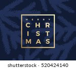 merry christmas greeting card...   Shutterstock .eps vector #520424140