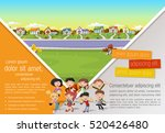 template for advertising... | Shutterstock .eps vector #520426480