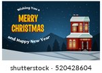 merry christmas banner  post... | Shutterstock .eps vector #520428604