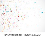 Colorful Confetti Isolated On...