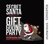 cartoon secret santa invitation ... | Shutterstock .eps vector #520433926