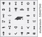 award icons universal set for... | Shutterstock .eps vector #520437343