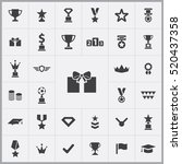 award icons universal set for... | Shutterstock .eps vector #520437358