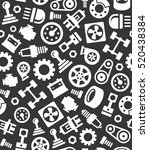 auto car spare parts seamless... | Shutterstock .eps vector #520438384