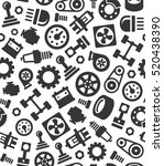 auto car spare parts seamless... | Shutterstock .eps vector #520438390