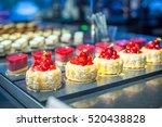 Raspberry Desserts With Cream...