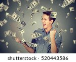 successful young man using... | Shutterstock . vector #520443586