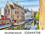old medieval house on the... | Shutterstock . vector #520444708