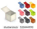 collection set of 3d realistic  ... | Shutterstock .eps vector #520444990