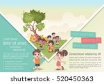 template for advertising... | Shutterstock .eps vector #520450363
