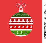 christmas bauble with pattern... | Shutterstock .eps vector #520452214