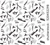 vector illustration of black... | Shutterstock .eps vector #520452298