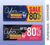 cyber monday sale banner... | Shutterstock .eps vector #520454530