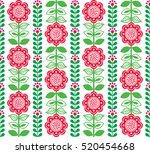finnish inspired seamless folk... | Shutterstock .eps vector #520454668