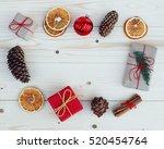 christmas gift boxes... | Shutterstock . vector #520454764