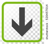 arrow down eco green and gray... | Shutterstock .eps vector #520457014