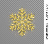 shine golden snowflake covered... | Shutterstock .eps vector #520457170