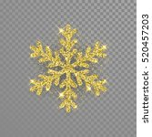 shine golden snowflake covered... | Shutterstock .eps vector #520457203