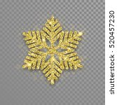 sparkling golden snowflake with ... | Shutterstock .eps vector #520457230