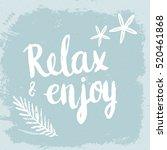 conceptual hand drawn phrase... | Shutterstock .eps vector #520461868