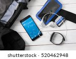 accessories for athletes... | Shutterstock . vector #520462948