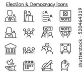 election   democracy icon set... | Shutterstock .eps vector #520464319