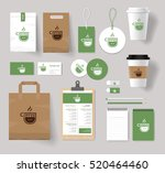 corporate branding identity... | Shutterstock .eps vector #520464460