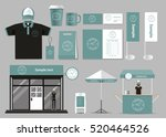 corporate branding for coffee... | Shutterstock .eps vector #520464526