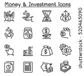 money   investment icon set in... | Shutterstock .eps vector #520465090