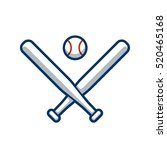 Two Crossed Baseball Bats And...