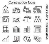 construction icon set in thin...