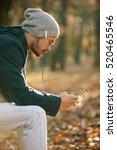 handsome hipster modern man... | Shutterstock . vector #520465546