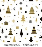 christmas holidays cute vector... | Shutterstock .eps vector #520466524