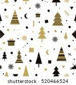 christmas holidays cute vector...   Shutterstock .eps vector #520466524
