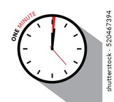 one minute clock. stopwatch... | Shutterstock .eps vector #520467394