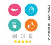 hand icons. like thumb up... | Shutterstock .eps vector #520470229