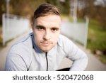 young handsome hipster runner...   Shutterstock . vector #520472068