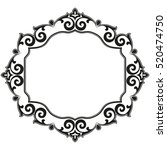 decorative line art frames for...   Shutterstock .eps vector #520474750