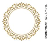 decorative line art frames for... | Shutterstock .eps vector #520474846