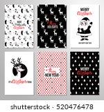 christmas hand drawn printable... | Shutterstock .eps vector #520476478