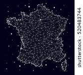 France. Map. Constellation....