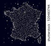 France. Map. Constellation....