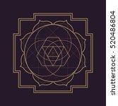 vector gold monochrome design... | Shutterstock .eps vector #520486804