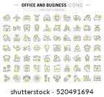 set vector line icons in flat... | Shutterstock .eps vector #520491694