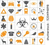 biohazard symbol. vector sign... | Shutterstock .eps vector #520494898